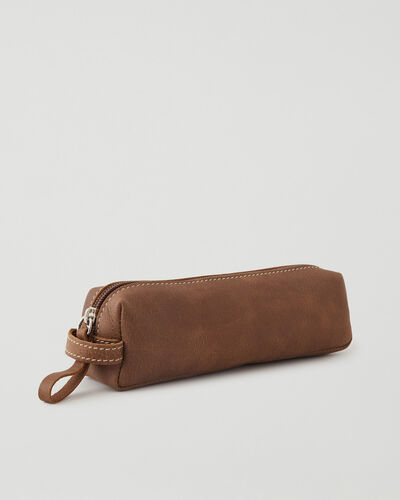 Roots-Leather Leather Accessories-Small Utility Pouch Tribe-Natural-A