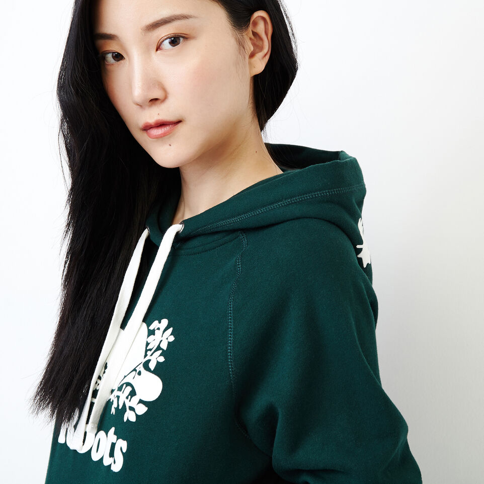 Roots-Women Our Favourite New Arrivals-Original Kanga Hoody-Varsity Green-E