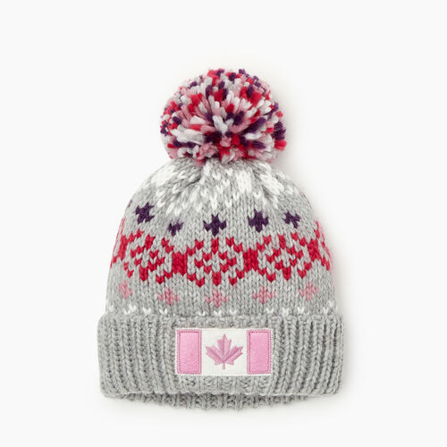 Roots-Sale Kids-Toddler Retro Fair Isle Toque-Grey Mix-A