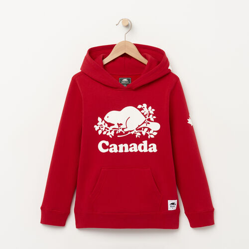 Roots-Kids Boys-Boys Canada Kanga Hoody-Sage Red-A