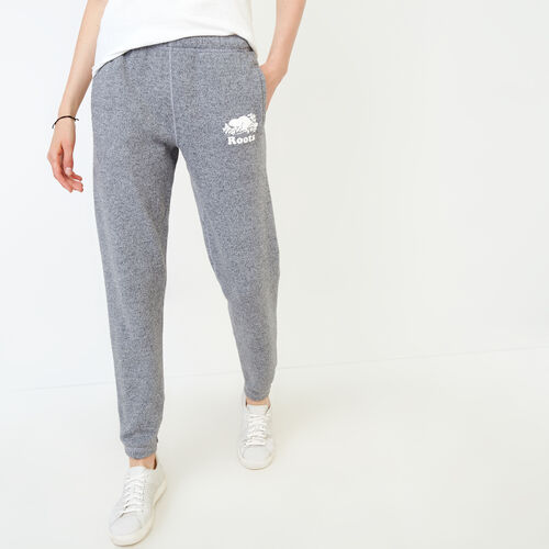 Roots-Women Sweatpants-Original Cozy Sweatpant-Salt & Pepper-A