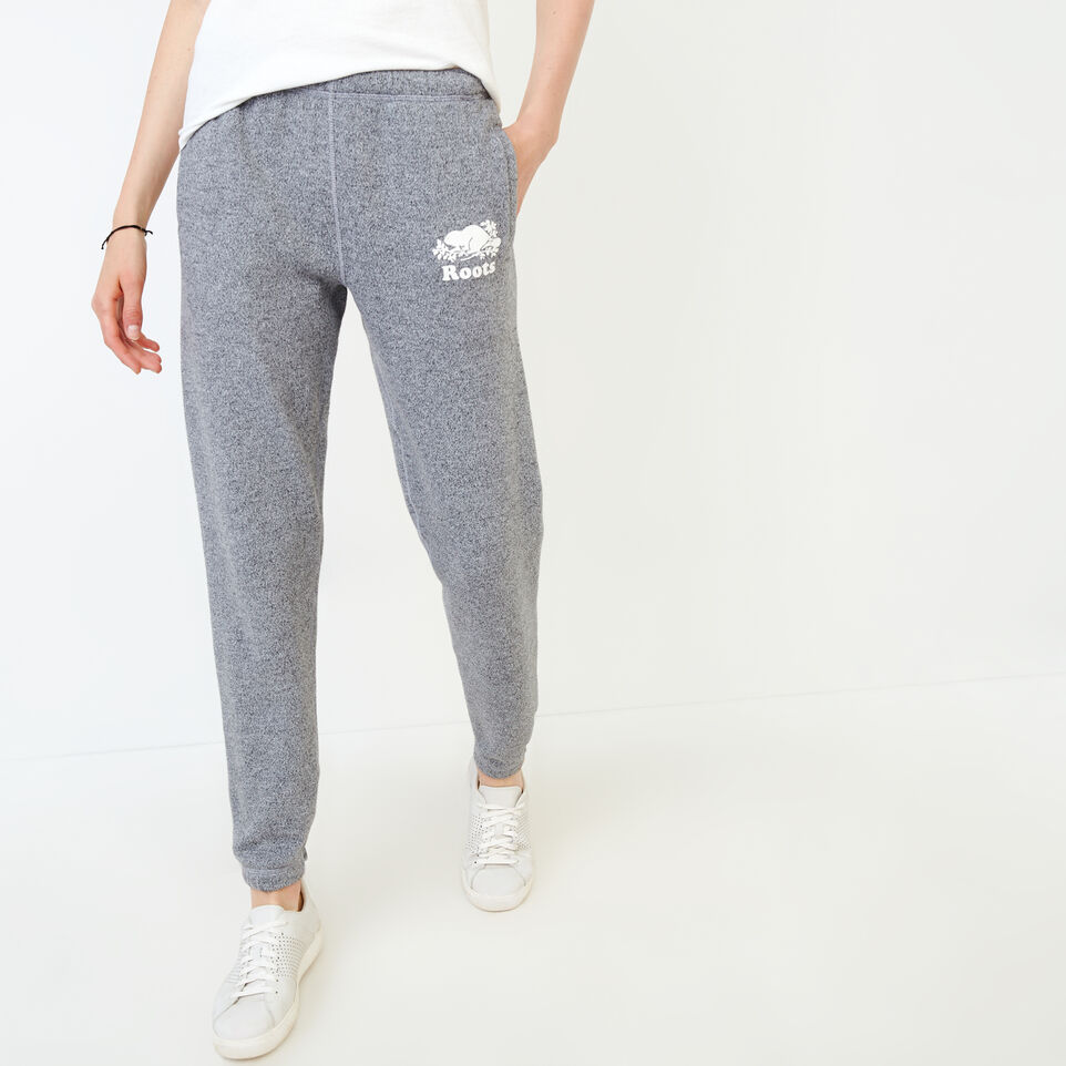 Roots-Women Clothing-Original Cozy Sweatpant-Salt & Pepper-A