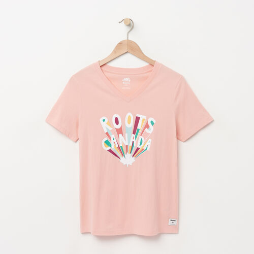 Roots-Sale Over 40% Off-Womens Classic Fireworks T-shirt-Blossom Pink-A