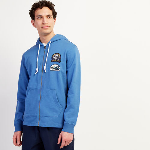 Roots-Men New Arrivals-Camp Patch Zip Hoody-Federal Blue-A