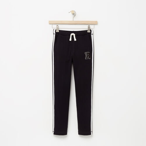 Roots-Kids Sweats-Boys Alumni Track Pant-Black-A
