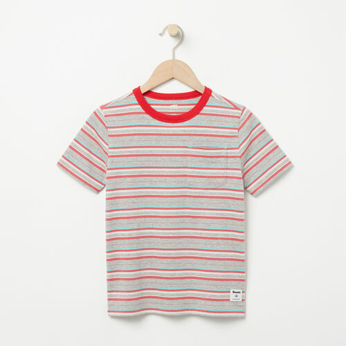 Roots-Sale Boys-Boys Striped Ringer Top-Washed Indigo-A