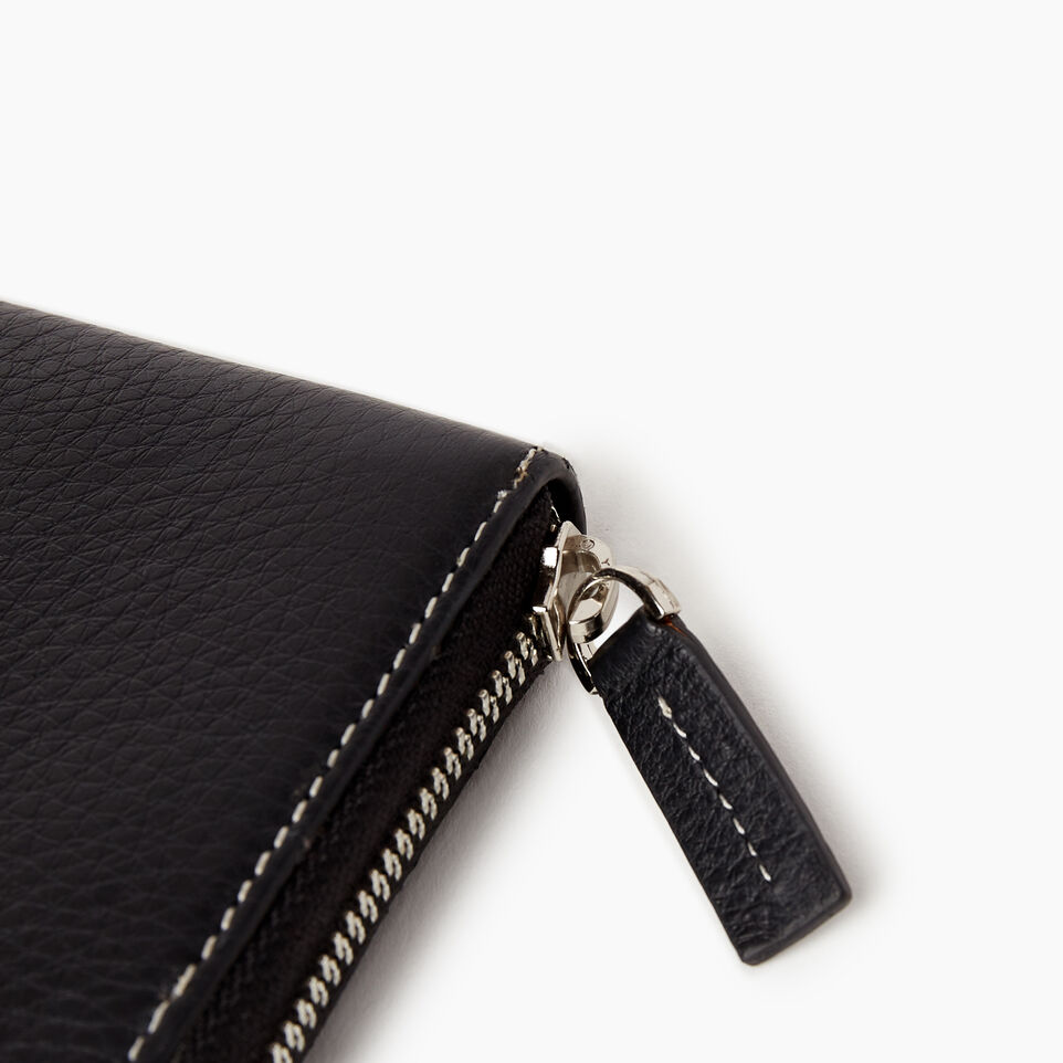 Roots-Leather Our Favourite New Arrivals-Zip Around Clutch-Black-E