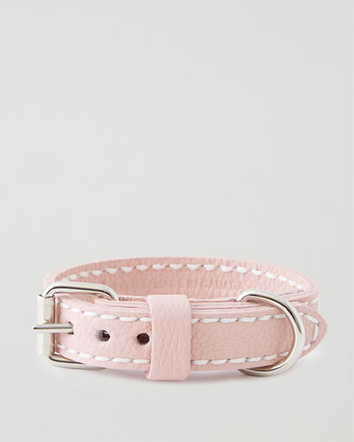 Roots-Leather Dog Accessories-Extra Large Leather Dog Collar-Pink Pearl-A