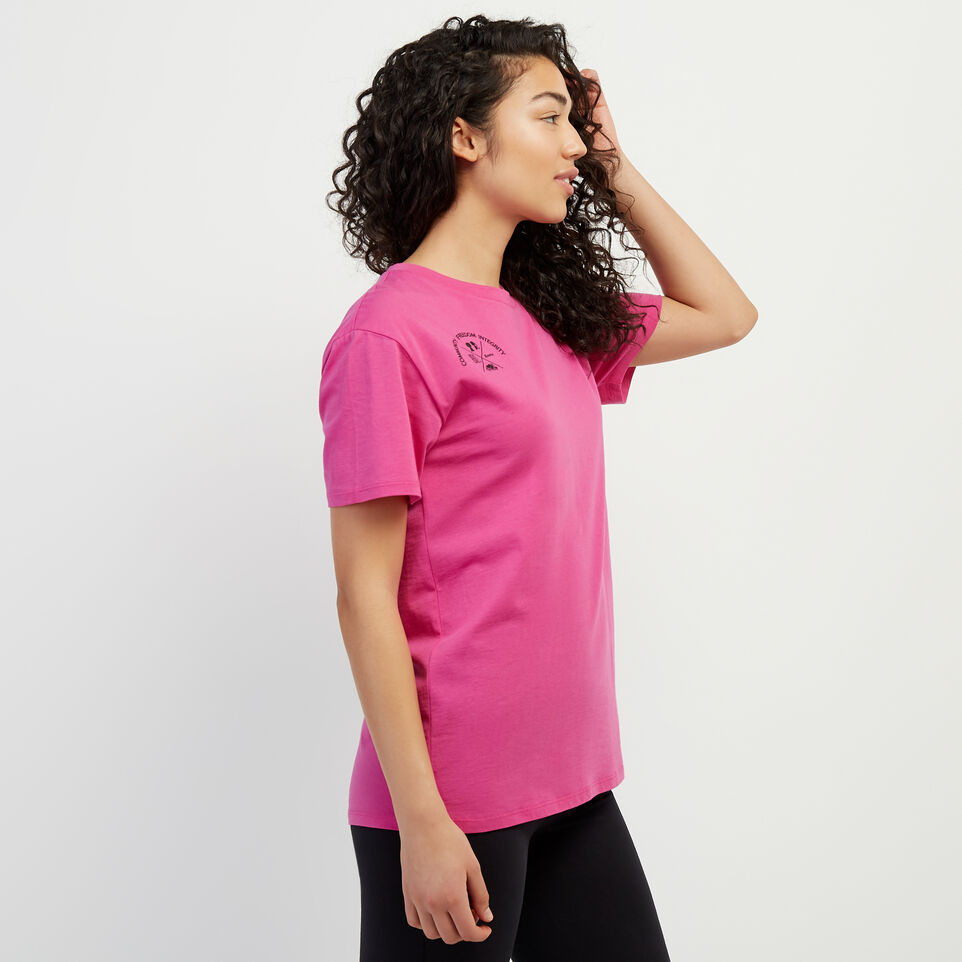 Roots-New For April Roots X Boy Meets Girl-Roots x Boy Meets Girl - Unisex Connected T-shirt-Pink-C