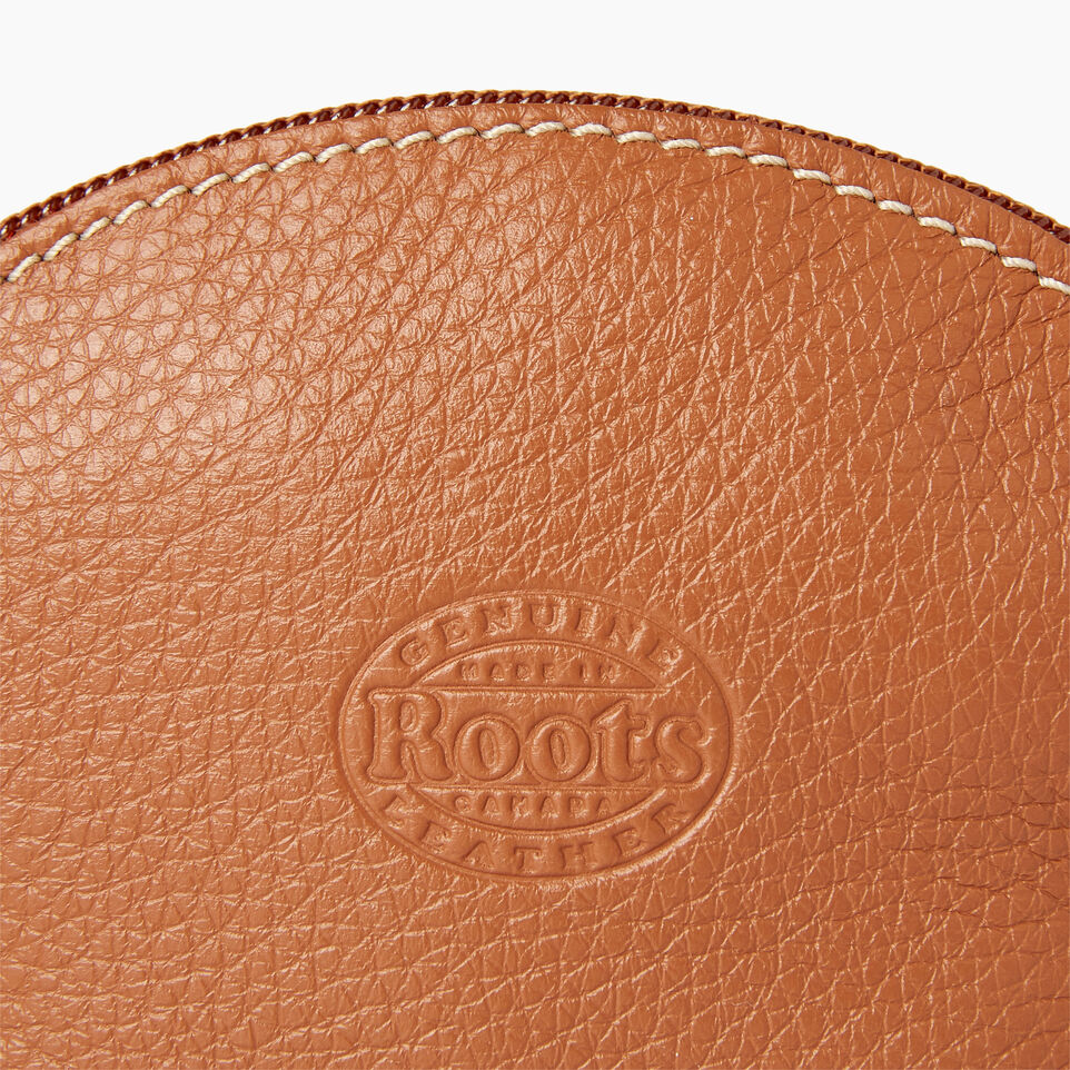 Roots-Leather Categories-Small Euro Pouch-Caramel-C