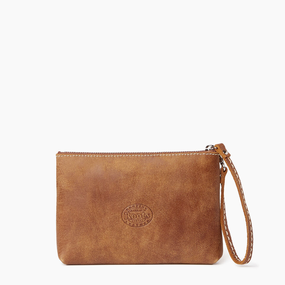 Roots-Leather Our Favourite New Arrivals-Riverdale Pouch-Natural-C