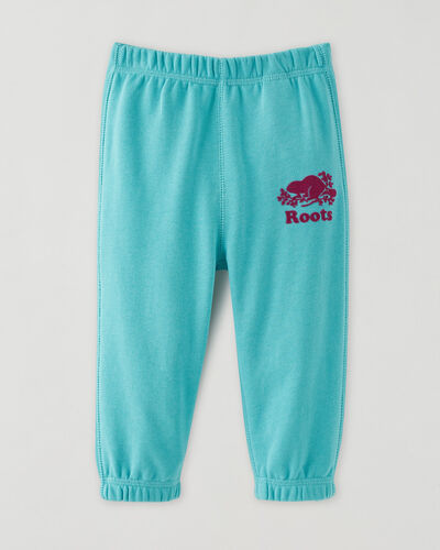 Roots-Kids Bottoms-Baby Original Sweatpant-Blue Turquoise-A