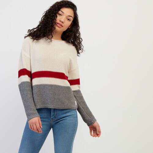 Roots-Women Sweaters & Cardigans-Cabin Pullover Sweater-Light Salt & Pepper-A