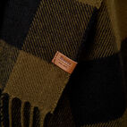 Roots-Men Our Favourite New Arrivals-Roots Park Plaid Scarf-Dark Olive Green-D