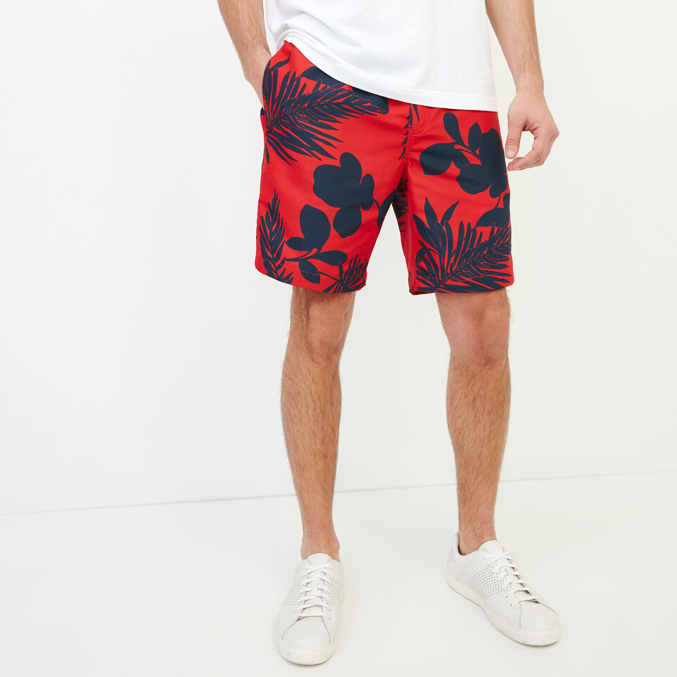 Roots-Men Our Favourite New Arrivals-Dock Aop Short-Racing Red-A