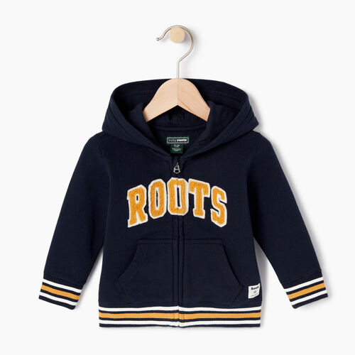 Roots-Kids Categories-Baby Roots Varsity Full Zip Hoody-Navy Blazer-A