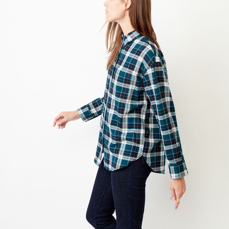 Roots-Women Our Favourite New Arrivals-Alaina Boyfriend Shirt-Shaded Spruce-C