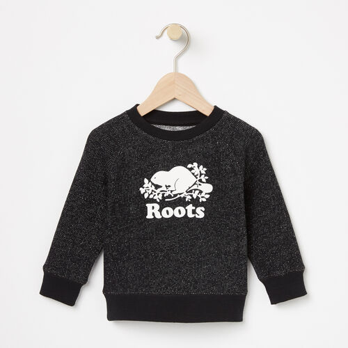 Roots-Kids Bestsellers-Baby Original Crew Sweatshirt-Black Pepper-A