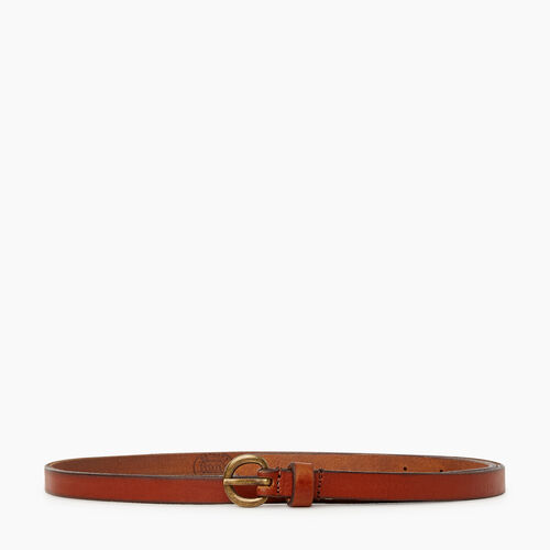 Roots-Women Categories-Roots Womens Skinny Belt-Cognac-A