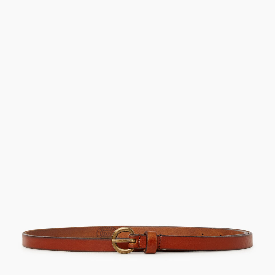 Roots-Women Clothing-Roots Womens Skinny Belt-Cognac-A