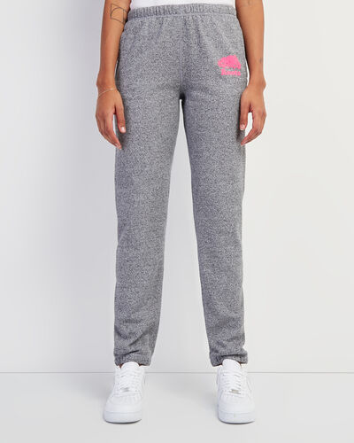Roots-New For This Month Women-Original Sweatpant Neon Pink Logo-Salt & Pepper-A