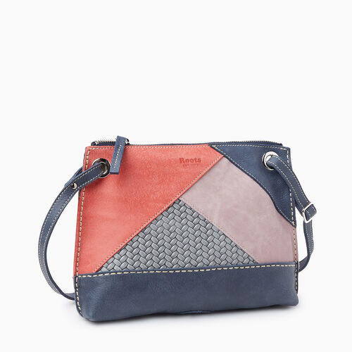 Roots-Women Crossbody-Edie Bag Patchwork-Navy-A