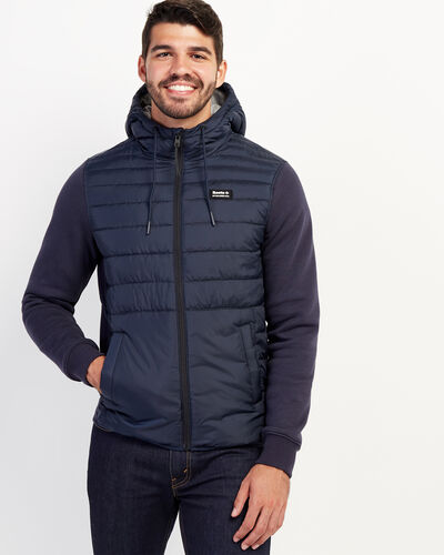 Roots-Men Jackets & Outerwear-Journey Hybrid Jacket-Cascade Blue-A