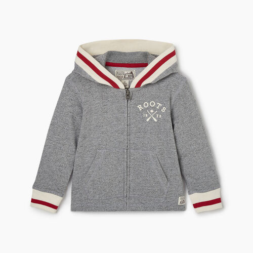Roots-Kids Tops-Toddler Cabin Full Zip Hoody-Light Salt & Pepper-A
