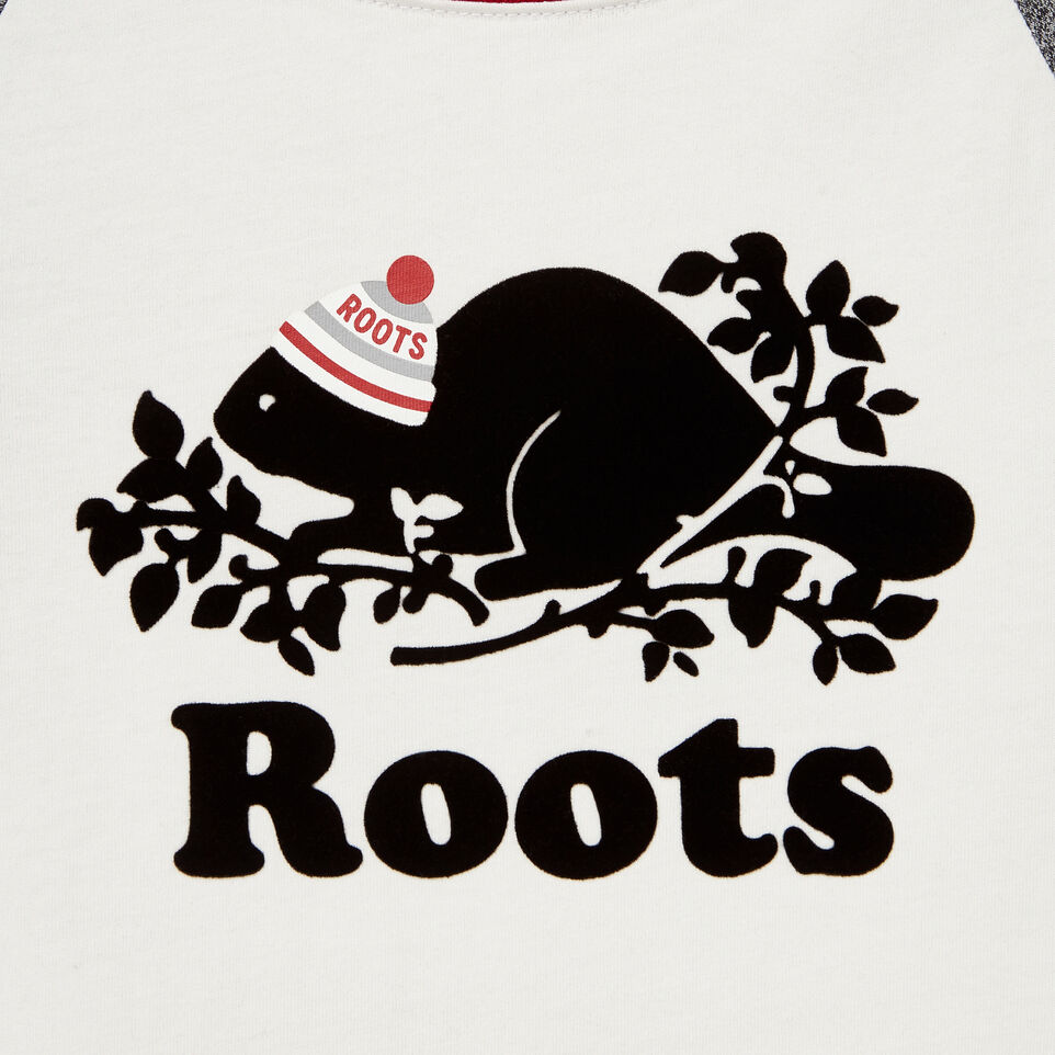 Roots-undefined-T-shirt à manches raglan Buddy pour filles-undefined-D