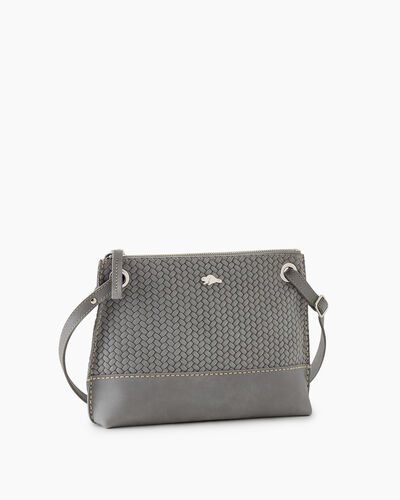 Roots-Leather New Arrivals-Edie Bag Woven-Quartz-A