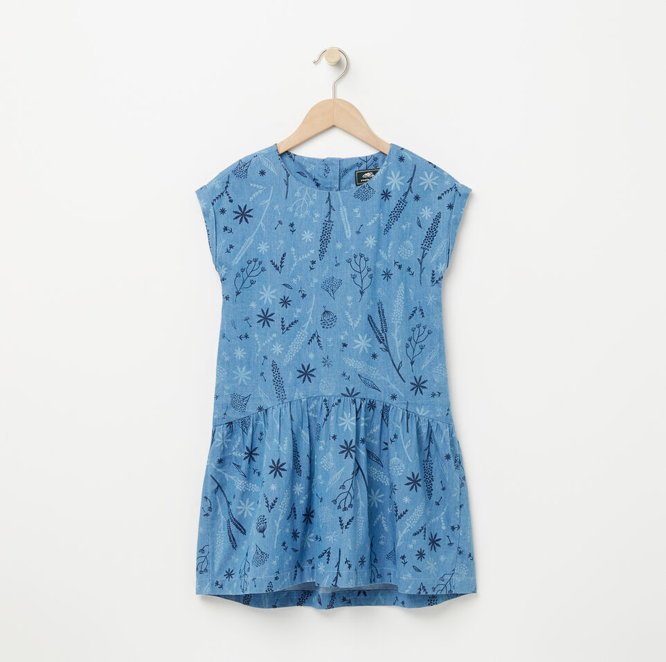 Roots-Girls Denim Floral Dress