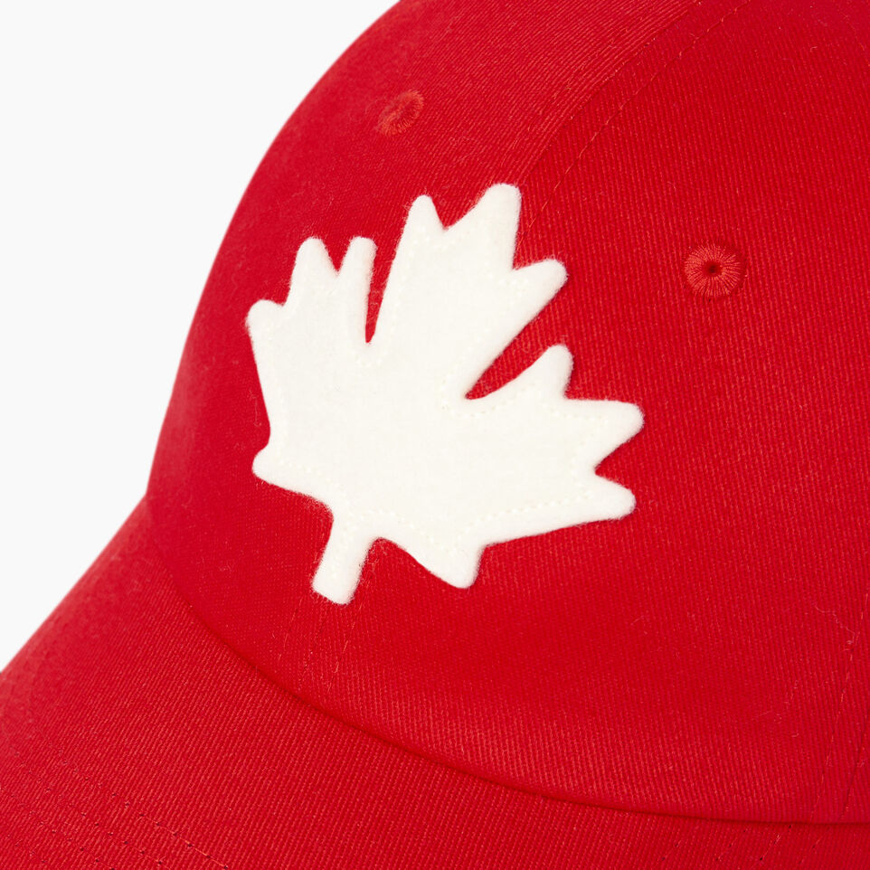 Roots-Clearance Kids-Kids Canada Baseball Cap-Red-D