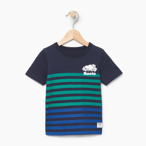 Roots-Kids Our Favourite New Arrivals-Toddler Cooper Beach Stripe T-shirt-Navy Blazer-A