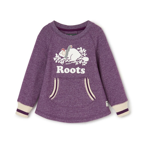 Roots-Clearance Kids-Toddler Buddy Cozy Fleece Pullover-Grape Royale Pepper-A