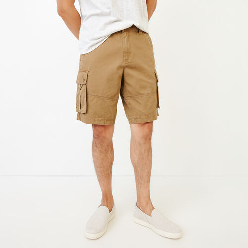 Roots-Hommes Shorts-Short Cargo Burlington-Kaki Britannique-A