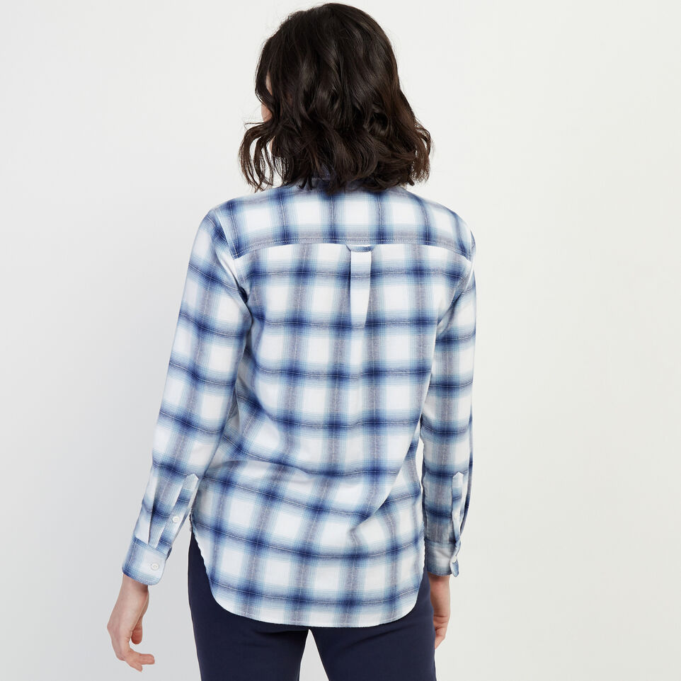 Roots-New For February Journey Collection-Journey Flannel Shirt-Celestial Blue-D