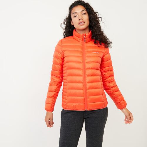 Roots-Women Outerwear-Roots Slim Packable Jacket-Spicy Orange-A