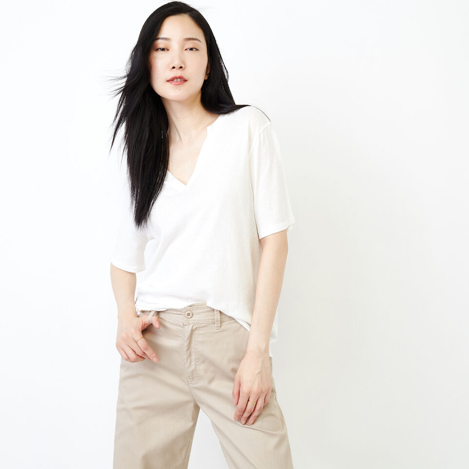Roots-New For August Women-Penny Top-Ivory-A
