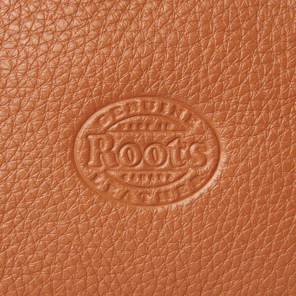 Roots-Leather Our Favourite New Arrivals-Medium Zip Pouch-Caramel-E