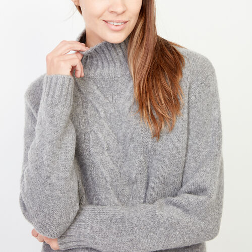 Roots-Winter Sale Women-Nita Cable Sweater-Grey Mix-A