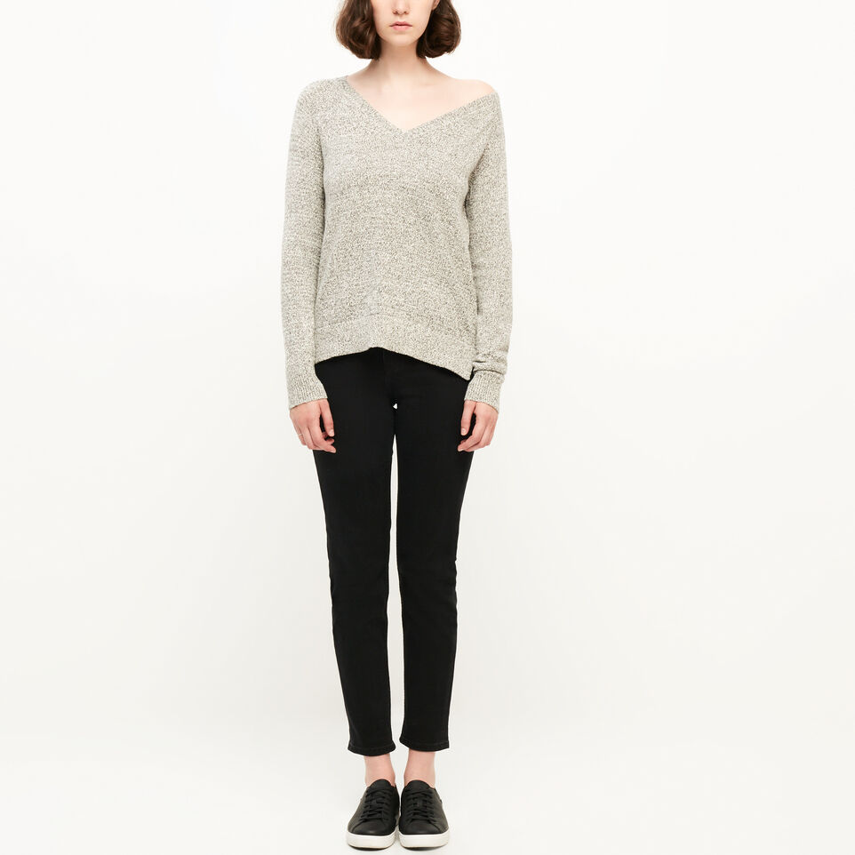 Roots-undefined-Snowy Fox V Neck Sweater-undefined-B