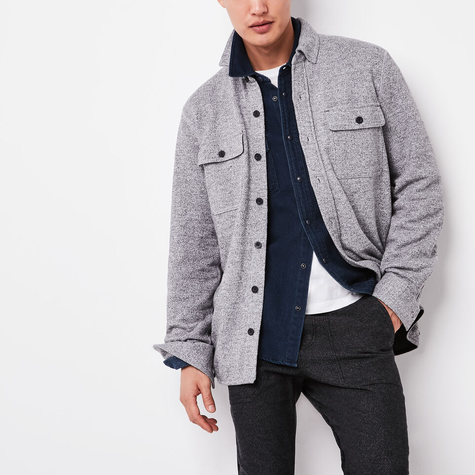Roots-undefined-Harrison Pepper Fleece Shirt-undefined-A