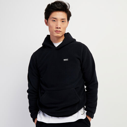 Roots-Men New Arrivals-Polartec® x Roots Journey Kanga Hoody-Black-A