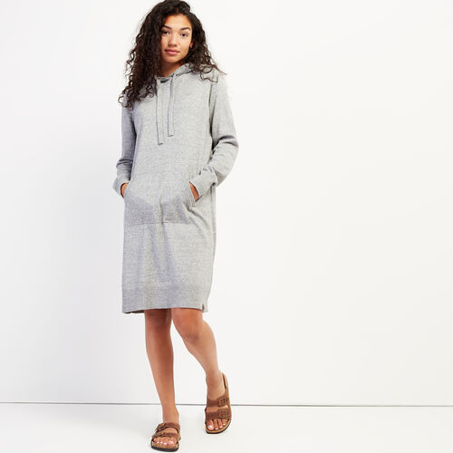 Roots-Women Dresses & Jumpsuits-Hooded Sweater Dress-Grey Mix-A
