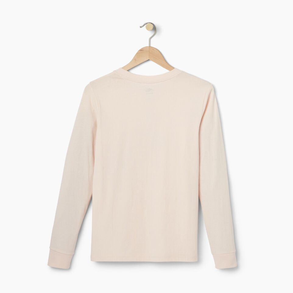 Roots-Women Our Favourite New Arrivals-Womens Multi- Colour Roots Long Sleeve T-shirt-Pink Cloud-B