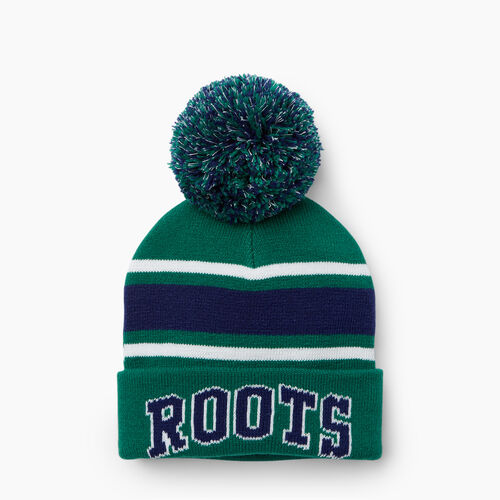 Roots-Kids Toddler Boys-Toddler Campus Pom Pom Toque-Verdant Green-A