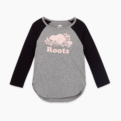 Roots-Kids Tops-Toddler Cooper Baseball T-shirt-Black-A