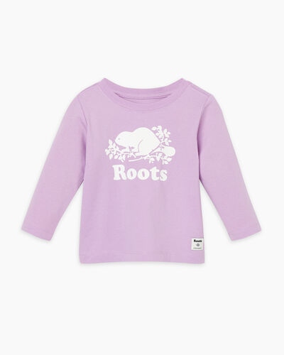 Roots-Sale Baby-Baby Original Cooper Beaver T-shirt-Lupine-A