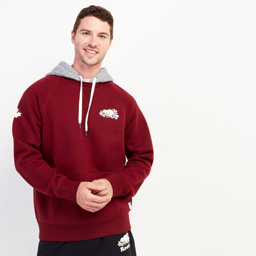 Roots-Men Bestsellers-Cooper Remix Kanga Hoody-Mulberry-A