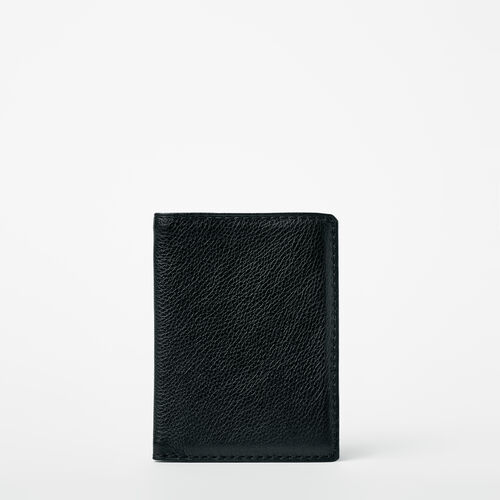 Roots-Leather  Handcrafted By Us Wallets-Passport Wallet Prince-Black-A